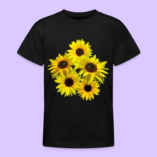 Sonnenblumenstrauss, Sonnenblume, Sonnenblumen - Teenager T-Shirt