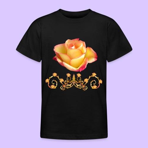orange Rose, Ornament, Rosen, Blumen, Blüten, edel - Teenager T-Shirt