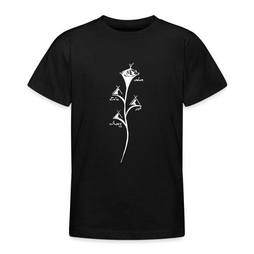wahre liebe ist schwarz - Teenager T-Shirt