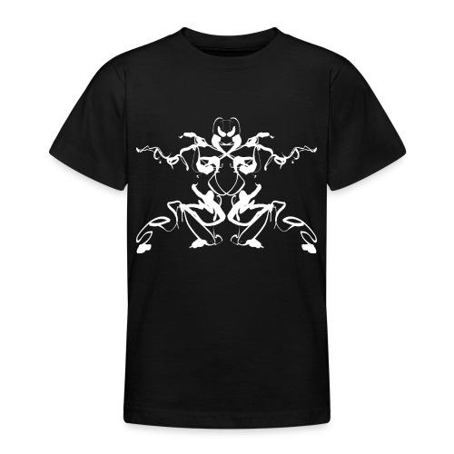 Rorschach test of a Shaolin figure Tigerstyle - Teenage T-Shirt