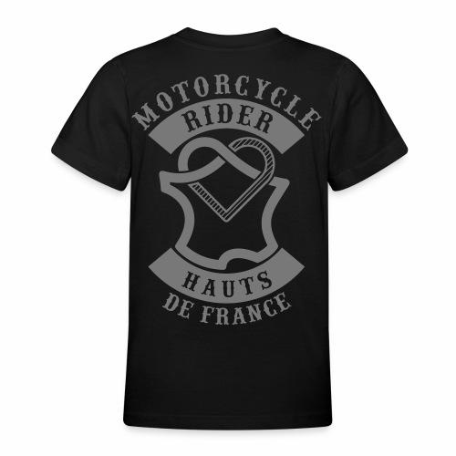 Motorcycle Rider Hauts-de-France 'Flag' - T-shirt Ado