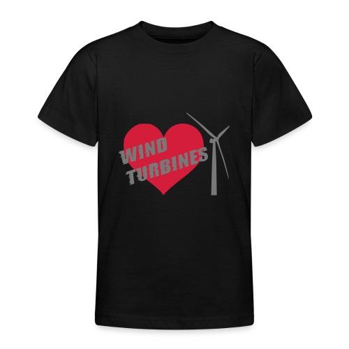 wind turbine grey - Teenage T-Shirt
