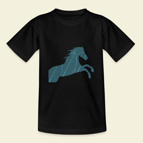 Cheval feuille - T-shirt Ado