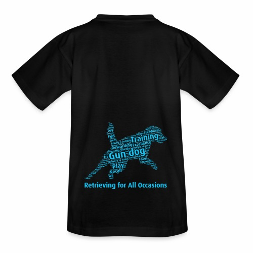 Retrieving for All Occasions wordcloud blått - T-shirt tonåring