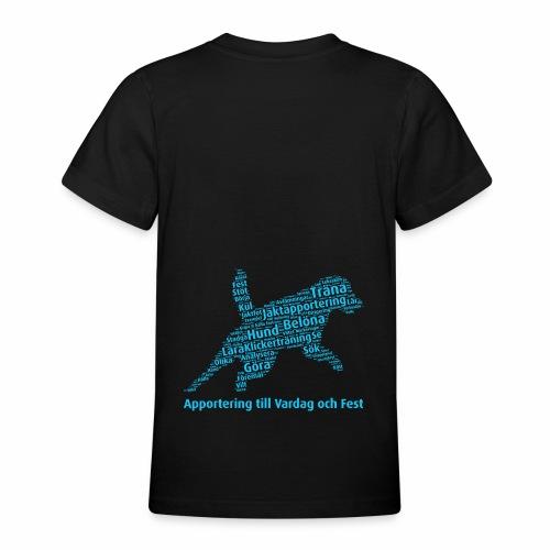 Apportering till vardag och fest wordcloud blått - T-shirt tonåring