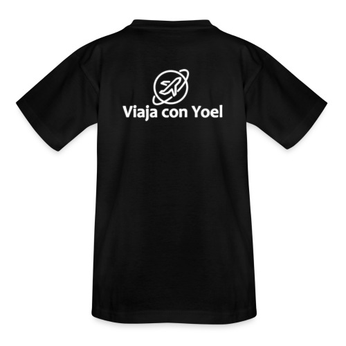 Viaja con Yoel White Logo - Camiseta adolescente