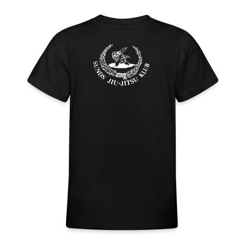 hvid logo på brystet eller ryggen - Teenager-T-shirt