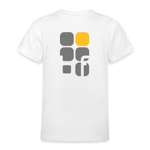 emblem farbig text schwarz - Teenager T-Shirt