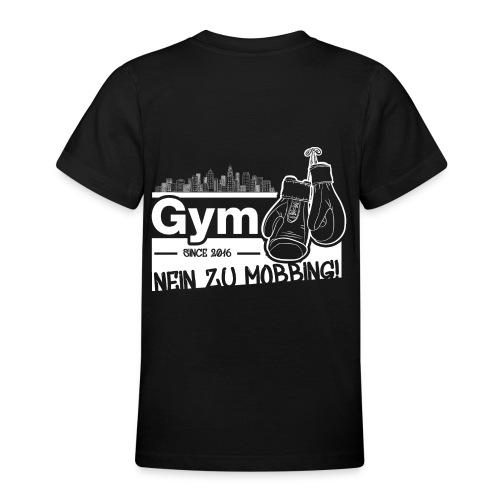Nein zu Mobbing Men Druckfarbe weiß - Teenager T-Shirt