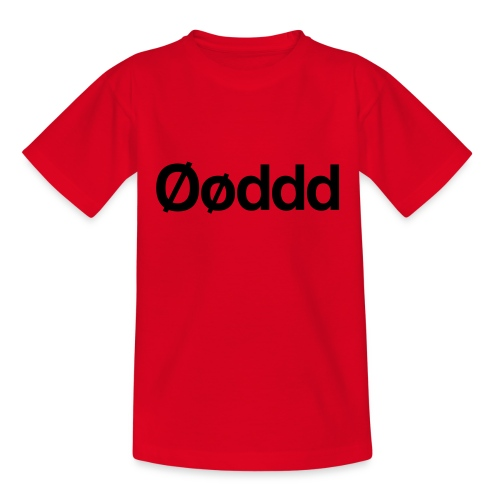 Øøddd (sort skrift) - Teenager-T-shirt