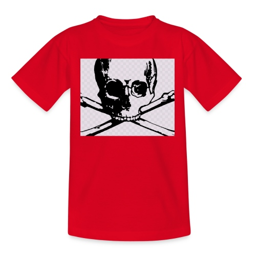 skull and crossbones - Teenage T-shirt