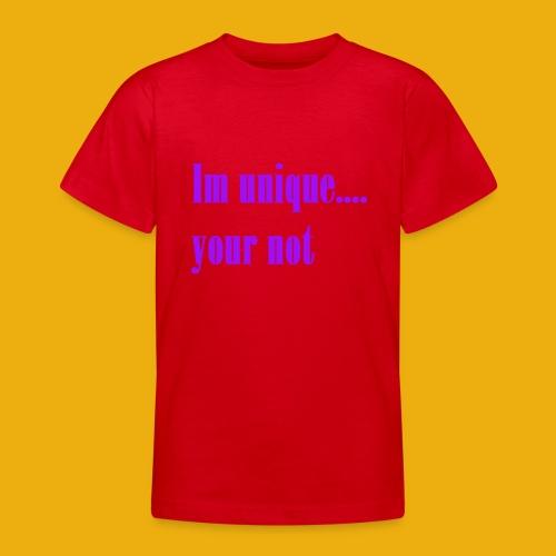 I and H unique merch - Teenage T-shirt