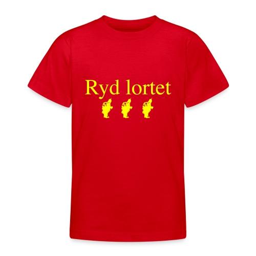 Ryd lortet - Børnekollektion - Teenager-T-shirt