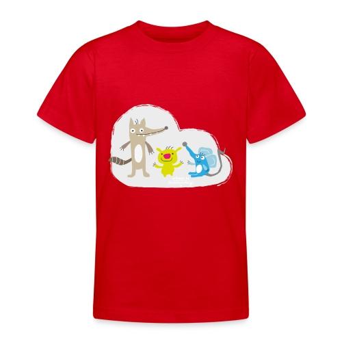 Froehliche Tierchen - Teenager T-Shirt