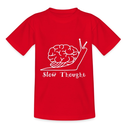 SlowThought (weiß) - Teenager T-Shirt