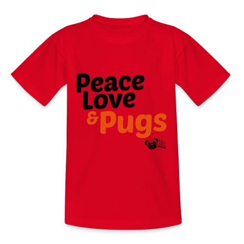 Peace Love and Pugs - T-shirt Ado