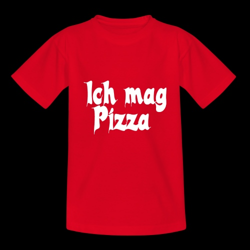 Pizza Logo white - Teenager T-Shirt