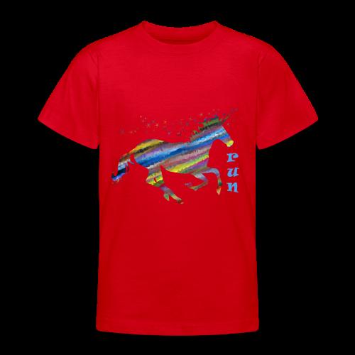 kunterbuntes Einhorn - Teenager T-Shirt