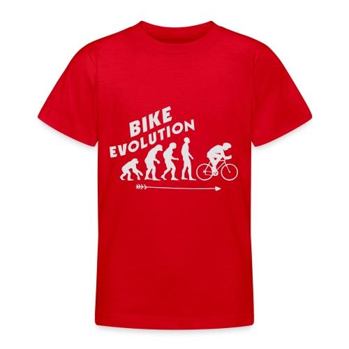 Bike Evolution (WHITE) - Teenager T-Shirt