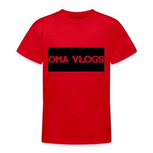 Oma Vlogs Black Logo - Teenage T-shirt