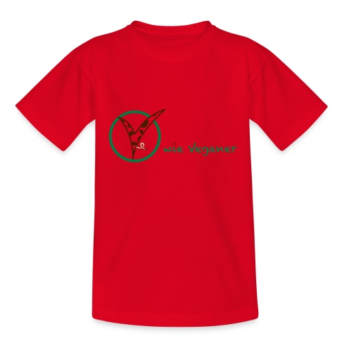 V wie Veganer - Teenager T-Shirt