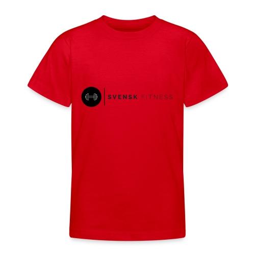 Svart logo - T-shirt tonåring