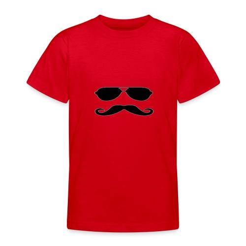 Animated Mustache - T-shirt tonåring