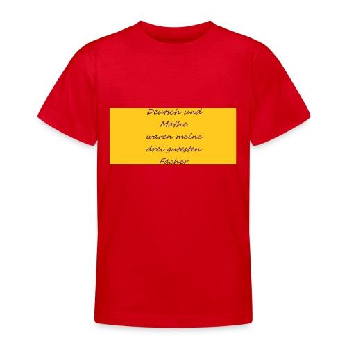 Deutsch und Mathe - Teenager T-Shirt