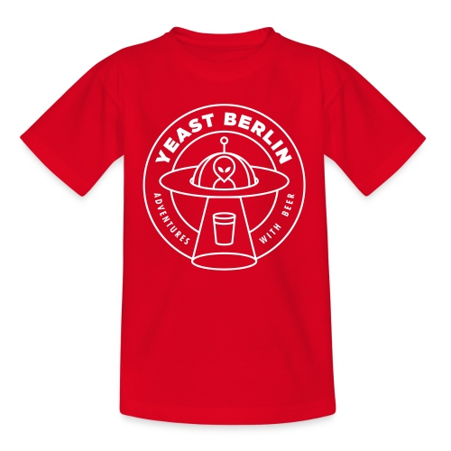 Yeast Berlin Original White Logo - Teenage T-shirt