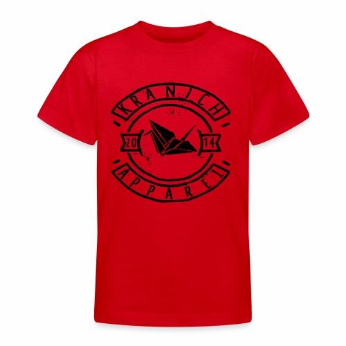kranich Apparel Black - Teenager T-Shirt