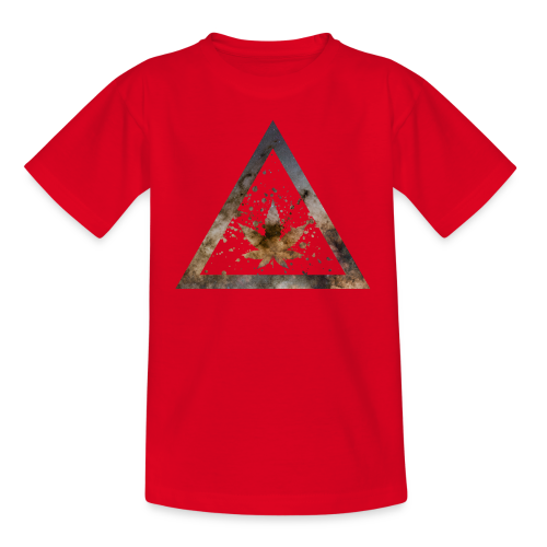 Galaxy Weed Marijuana Triangle with Splashes - Teenager T-Shirt
