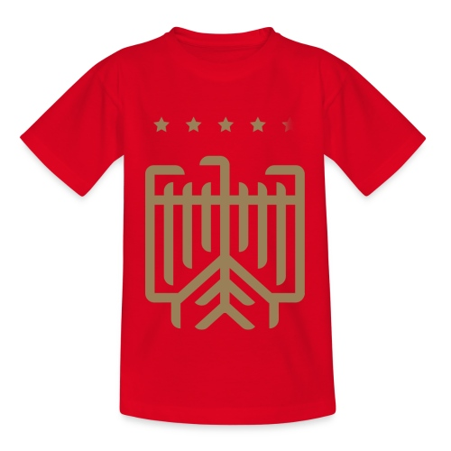 Deutsches WM T-Shirt (gold) - Teenager T-Shirt