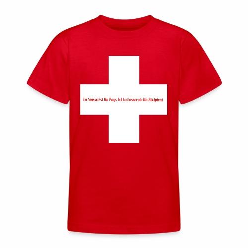 Design Super Suisse - T-shirt Ado