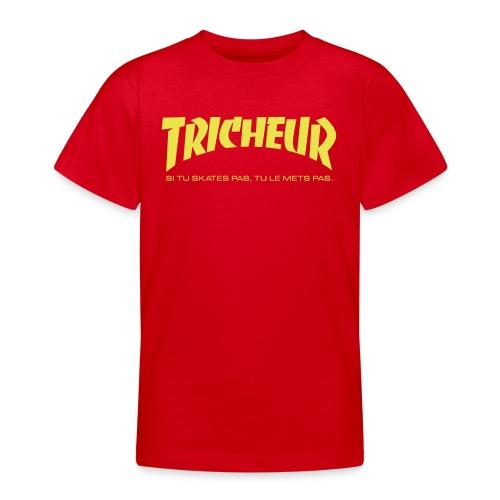 skateboard trasher tricheur - T-shirt Ado