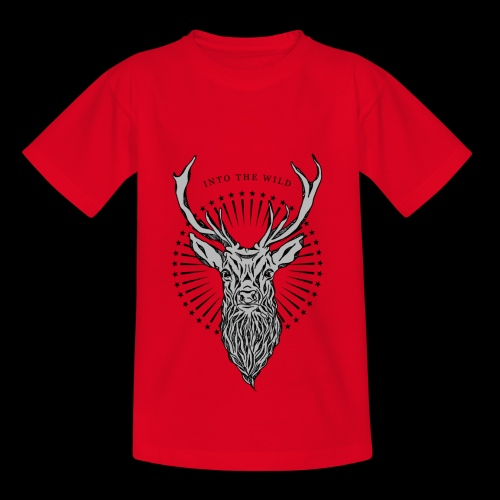 Hirsch - Into the Wild - Teenager T-Shirt