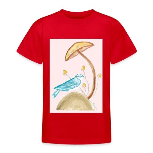 fungo con uccello - Maglietta per ragazzi