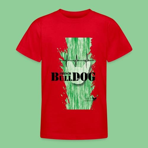 French Bulldog - Kids - gruen - Teenager T-Shirt