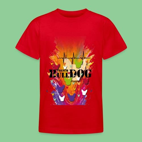 French Bulldog - Kids bunt - Teenager T-Shirt