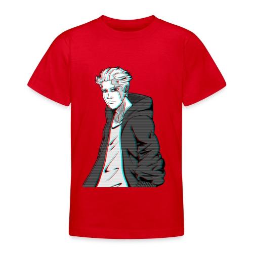 Cyber Glitch Guy - Teenage T-shirt