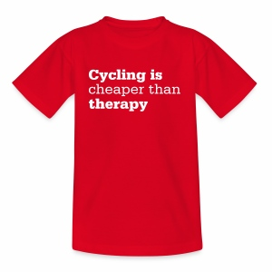 Cycling is therapy - Teenager T-Shirt