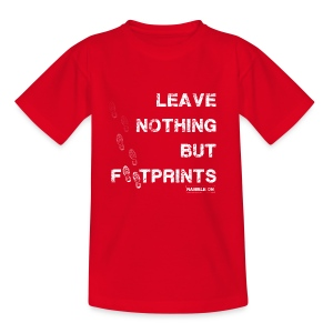 Leave Nothing But Footprints in White - Teenage T-shirt