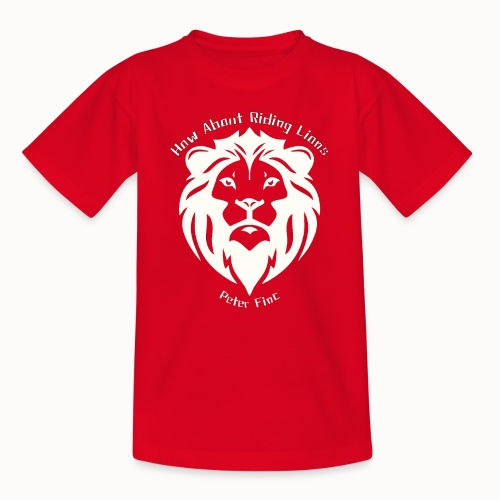 Lions Logo white2 - Teenager T-Shirt