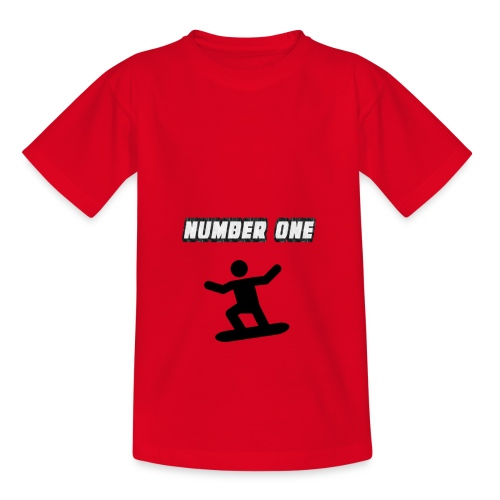 Number One Snowboarder - Teenage T-Shirt