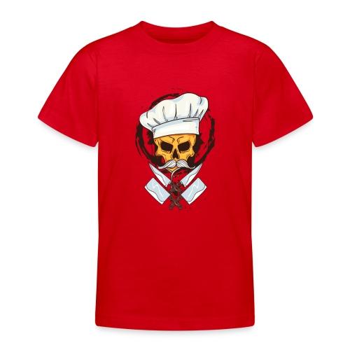Chefkoch Totenkopf - Gekreuzte Messer - Teenager T-Shirt