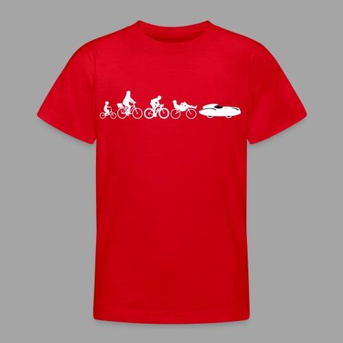 Bicycle evolution white Quattrovelo - Nuorten t-paita