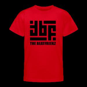 the beatfreekz logo 3 black - Teenager T-Shirt