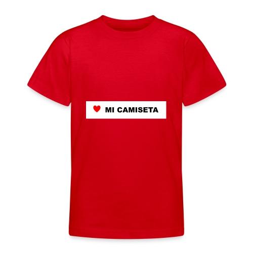 amomicamiseta - Camiseta adolescente