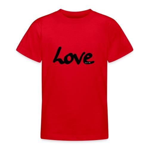 love - Camiseta adolescente