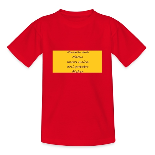 Deutsch und Mathe - Teenager T-Shirt