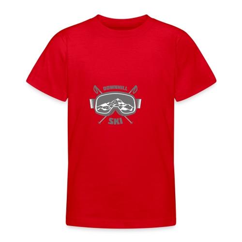 Downhill Ski - Teenage T-Shirt